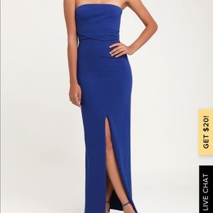Blue Gown (worn once)